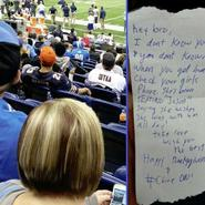 The note that will change a couple's life forever